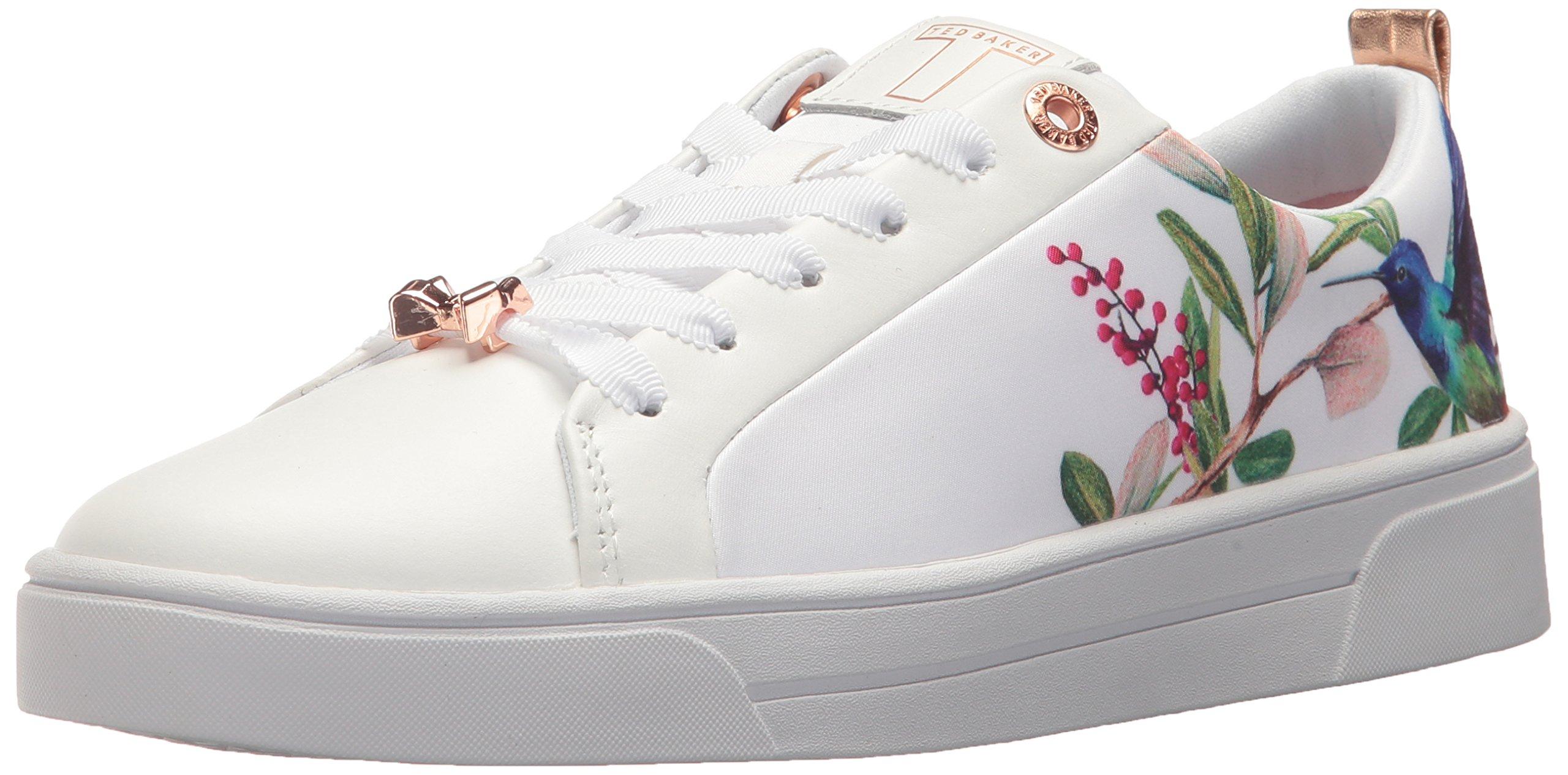 Ted Baker Women's Ahfira Sneaker, High-Rise Hummingbird, 7.5 Medium US