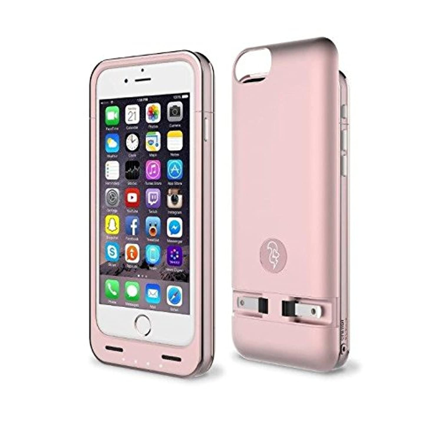sports shoes d68dc cef6a Squirl iPhone 6/6S Battery Case - Built-in Charger Charges Your Battery -  Case Fully Protects Your Cell Phone - Patented Slide & Hide Power Plugs -  ...