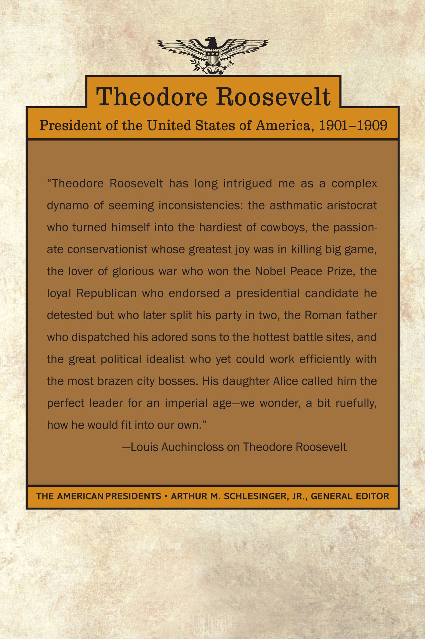 com theodore roosevelt the american presidents series  com theodore roosevelt the american presidents series the 26th president 1901 1909 9780805069068 louis auchincloss arthur m schlesinger