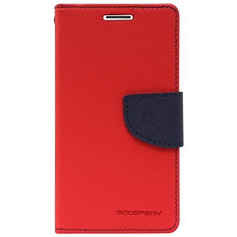 buy popular 12b36 35397 Online India Flip Cover Imported Mercury Goospery Fancy Diary Wallet Flip  Case Back Cover for Redmi Note 6 Pro Red