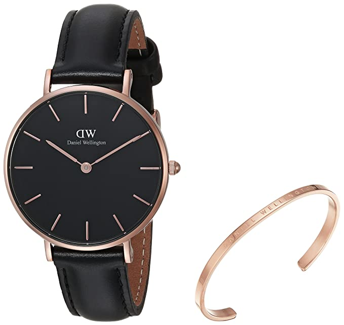474fab0b95bc Daniel Wellington Women s DW00500005 Gift Set Classic Petite Sheffield with Rose  Gold Classic Cuff Watch  Amazon.ca  Watches
