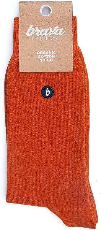 Brava Fabrics - Calcetines - Calcetines de Algodón Orgánico - 100 ...