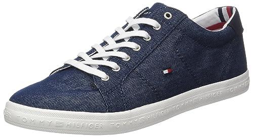 Tommy Hilfiger Essential Long Lace Sneaker, Zapatillas para Hombre: Amazon.es: Zapatos y complementos