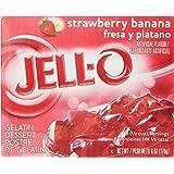 Jell-O Strawberry Banana Gelatin Mix 6 Ounce Box