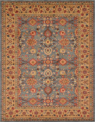 Unique Loom Edinburgh Collection Oriental Traditional French Country Blue Area Rug 10 0 x 13 0