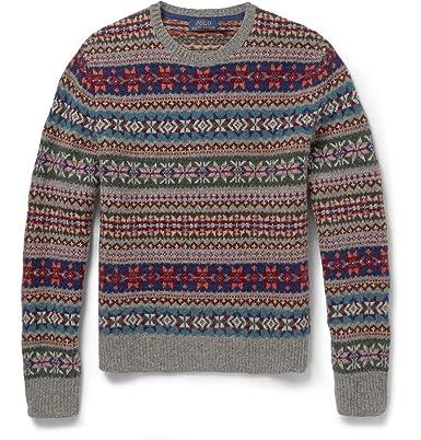 7709bcd8a Polo Ralph Lauren Fair Isle Wool Sweater  Amazon.co.uk  Clothing