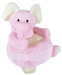 Stephan Baby Plush Nursery Decor Chair, Pink Elephant