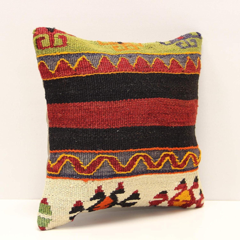 16x16 Turkish Kilim Pillow,Vintange Kilim pillow,40x40cm Decorative Pillow Cover,Throw Pillow,Hand woven Pillow,Rug Pillow,Kilim Pillow