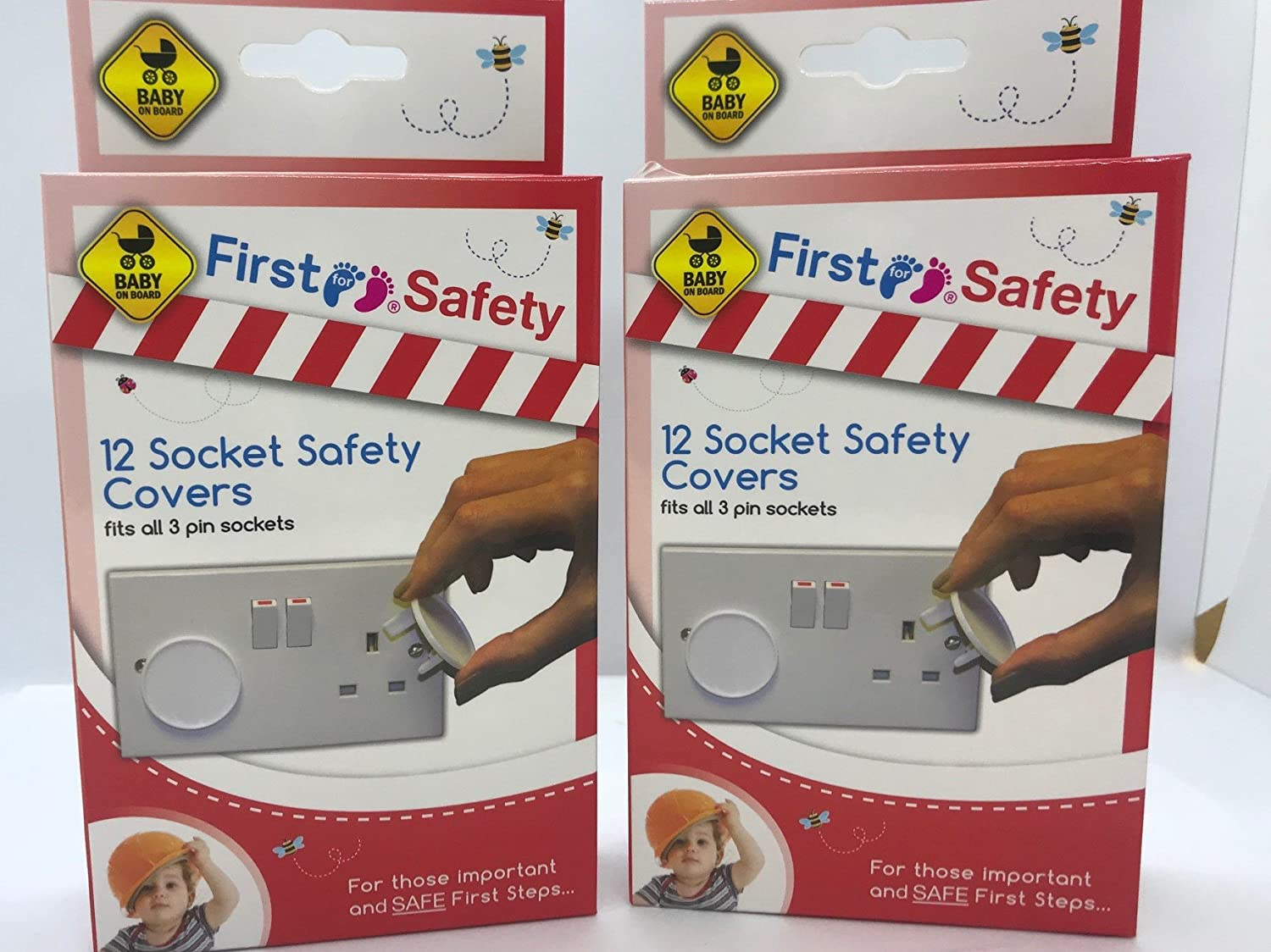 2 X Home Safety Plug Socket Covers Baby & Children Protector Guard (24 Pack) New FS120