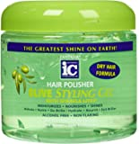 Fantasia High Potency IC Hair Polisher Olive Styling Gel, with Sparkle Lites, 16 oz.