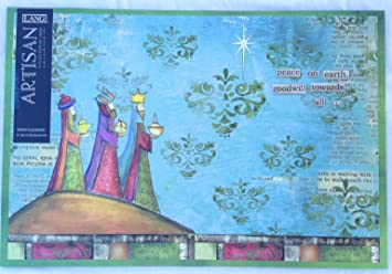 Lang QuotPeace On Earthquot Holiday Disposable Paper Placemats Designed By Lisa Kaus 12