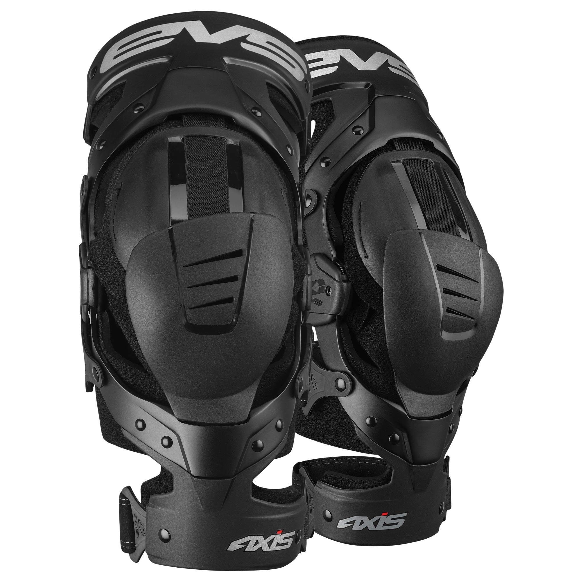 EVS Sports Unisex-Adult Axis Sport Knee Brace - Pair (Black, Large, 2 Pack