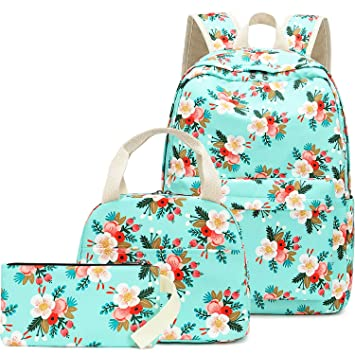 e5a013cf2ffd BLUBOON School Backpack Set Teen Girls Bookbags 15