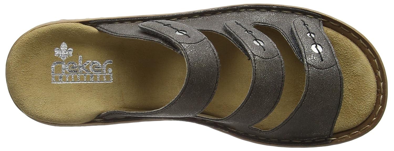 Rieker Grau 60849 Damens Mules Damen Pantoletten Grau Rieker (Stromboli/Silver / 45) 1cc71d