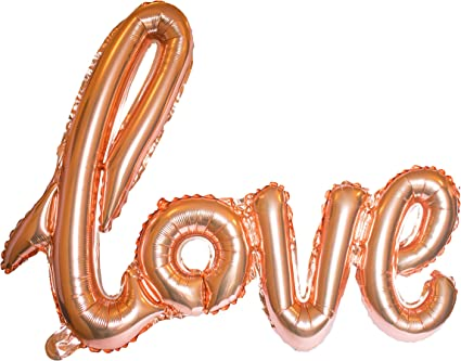 "Romantic 42/"" Love Rose Gold Foil Balloon Birthday Wedding Party Decorations"
