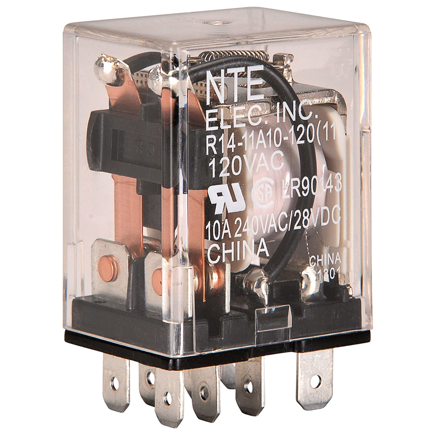 Nte Electronics R14 11a10 120 Series General Purpose Ac Relay Economy Circuit Dpdt Contact Arrangement 10 Amp Vac Soldering Iron Tips Industrial
