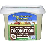 Carrington Farms Organic Extra Virgin Coconut Oil, 12 Ounce, Packaging May Vary