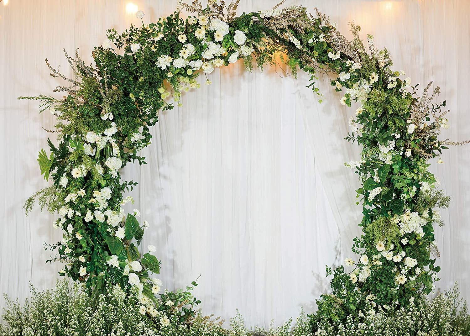 Daniu Wedding Backdrop Outdoors Flower Wedding Floral Arch Romantic Decor  Photo Background for Party Photo Shoots Adult Lovers Studio Props