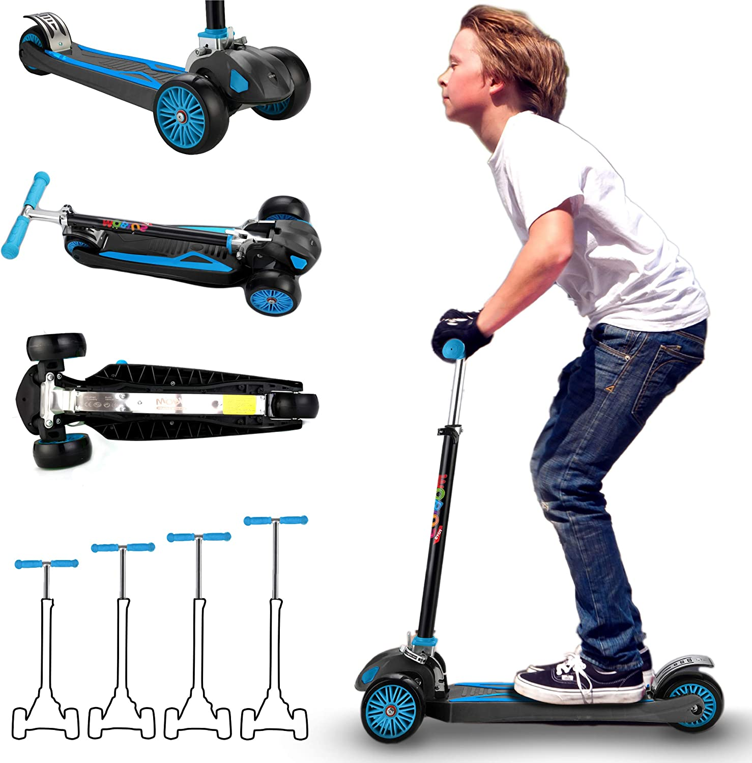 MOBIUS Toys Scooter for Kids, Maxi Foldable Kick Scooter Deluxe