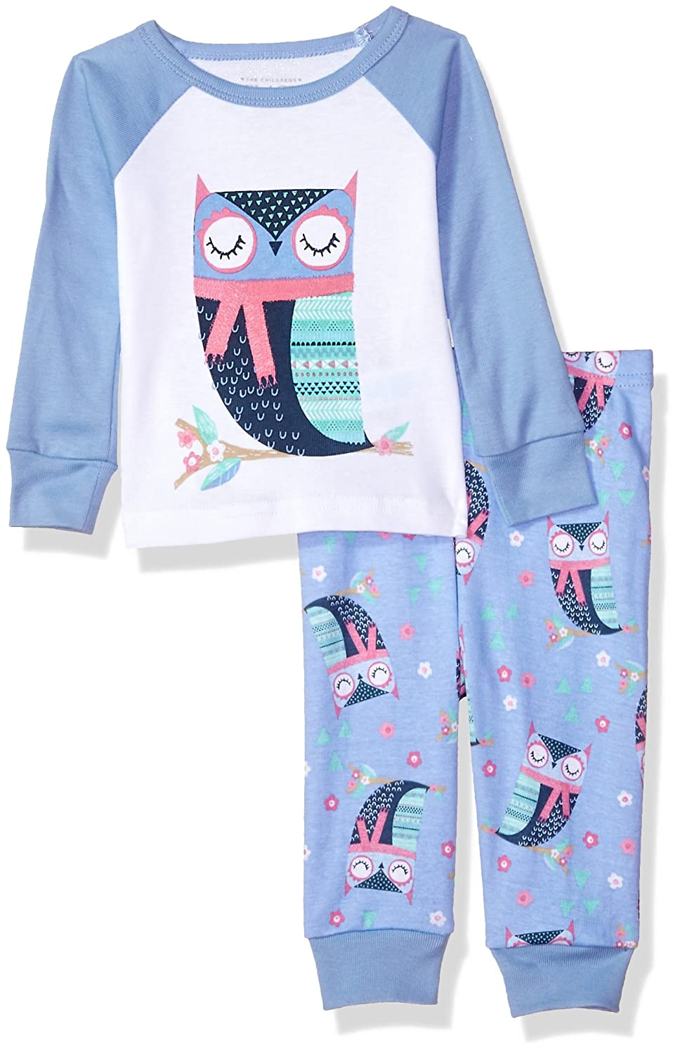The Children's Place Baby Owl Themed 2 Piece Pajamas 2091683