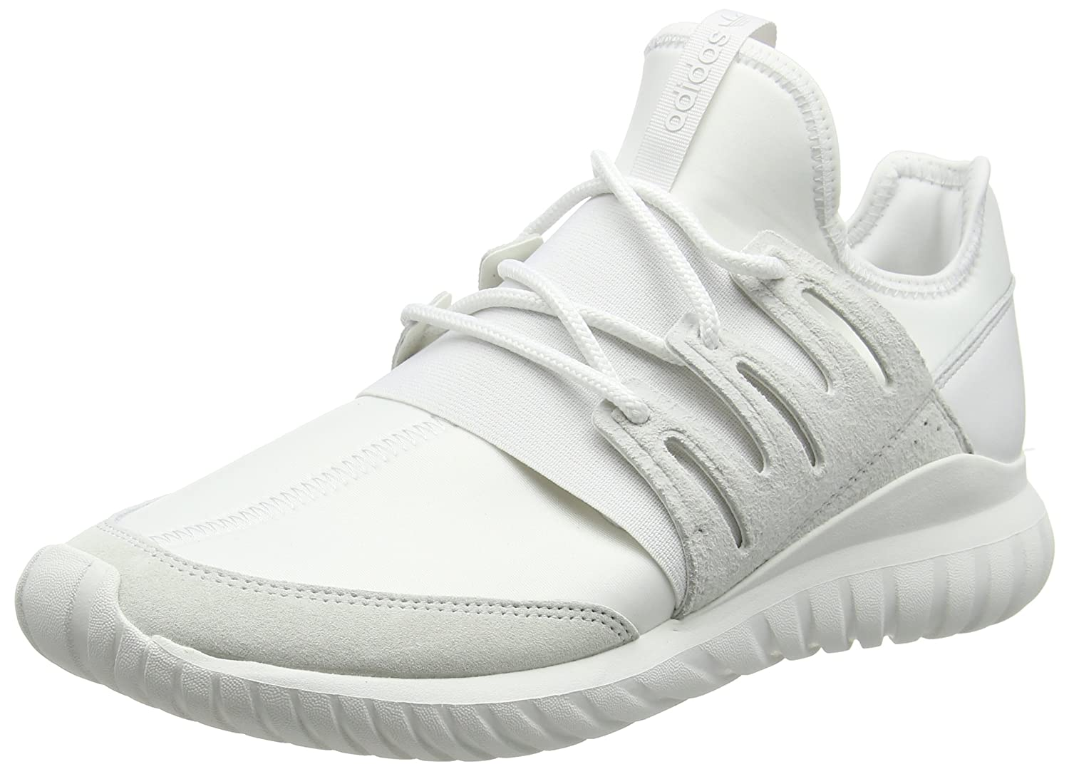 adidas Unisex-Erwachsene Tubular Radial High-Top  44 EU|Wei? (Crystal White/Crystal White/Crystal White)