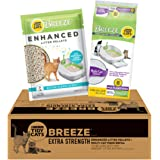 Purina Tidy Cats Litter System, Breeze Extra Strength Enhanced Litter Pellets & Multi Cat Pads Refill