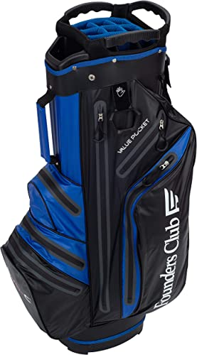 Founders Club Waterproof Golf Cart Bag Ultra Dry for Rainy Days on The Golf Course Light Weight 14 Way Full Length Divider Plus External Putter Tube