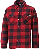 Dickies Portland - Camisa de Trabajo Acolchada de Forro Polar (SH5000), cálida, Acolchada, con Forro Verde y Azul Marino, Tallas S, M, L, XL, XXL