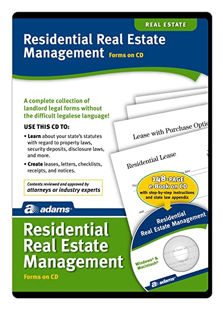 Amazoncom Adams Residential Property Management Forms On CD - Socrates legal forms