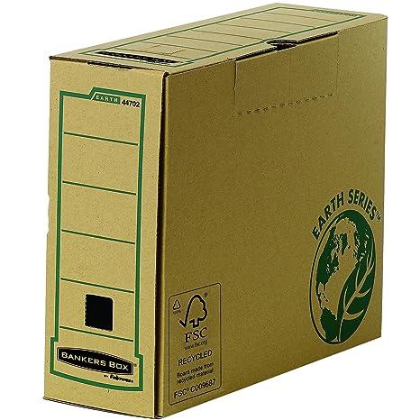 Fellowes 4470201 R-Kive Earth - Archivador con cierre de lengüeta (cartón reciclado con