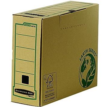 Fellowes 4470201 R-Kive Earth - Archivador con cierre de lengüeta (cartón reciclado con certificación FSC, tamaño A4), paco de 20 unidades: Amazon.es: ...