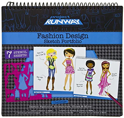 Buy Project Runway Fashion Design Sketch Portfolio 1 Free Mini Tapeffiti Bundle Online At Low Prices In India Amazon In