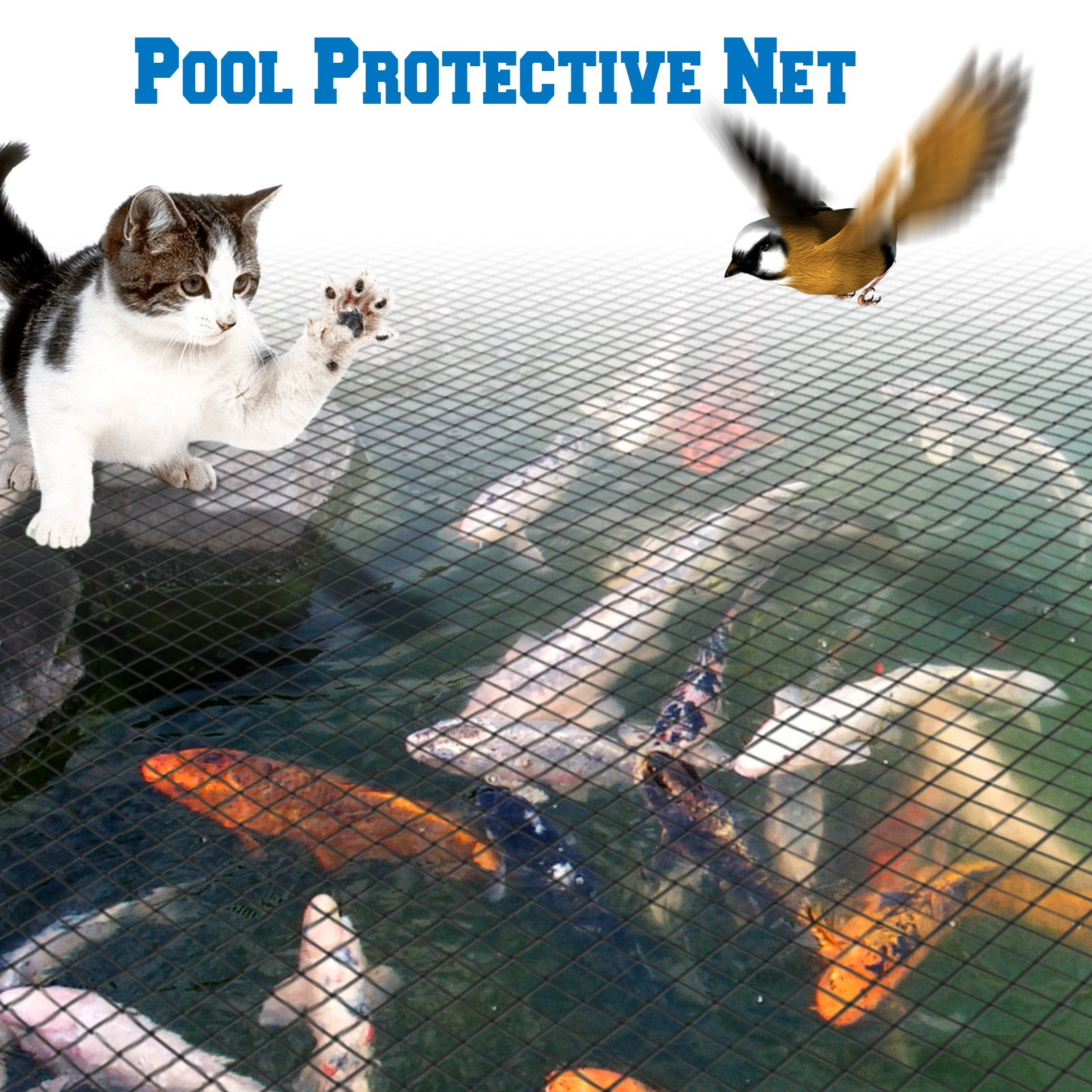 BenefitUSA Pool Netting Pond Protective Floating Net Tub Mesh Cover (28' x45')