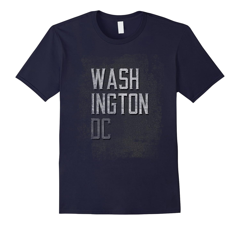 Washington DC Distressed City Grunge Dark T-Shirt Tee-FL