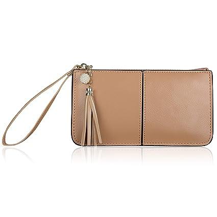 promo code 98558 afcf3 Befen Soft Leather Wristlet Phone Wristlet Wallet Clutch with Wrist  Strap/Card Slots/Cash Pocket- Fit iPhone 6S Plus/Samsung Note 5-Camel