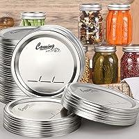 48-Count, Regular Mouth Canning Lids for Ball, Kerr Jars - Split-Type Metal Mason Jar Lids for Canning - Food Grade…
