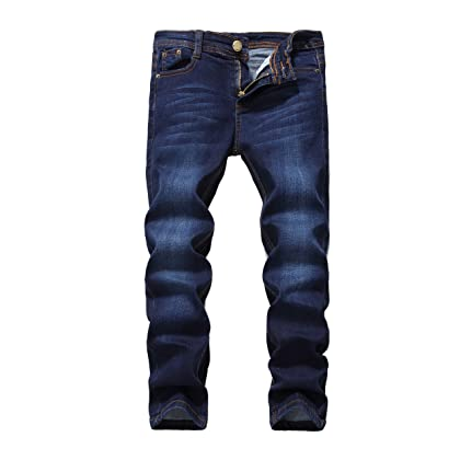 a2067c8e FREDD MARSHALL Boy's Blue Skinny Fit Stretch Slim Elastic Waist Denim Jeans  Pants For Kids , Blue , 12