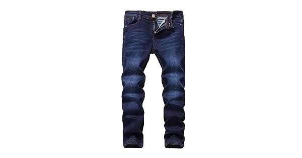 923299fe FREDD MARSHALL Boy's Blue Skinny Fit Stretch Slim Elastic Waist Denim Jeans  Pants For Kids , Blue , 12