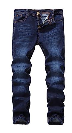 448722a719f2 FREDD MARSHALL Boy's Blue Skinny Fit Stretch Slim Elastic Waist Denim Jeans  Pants for Kids