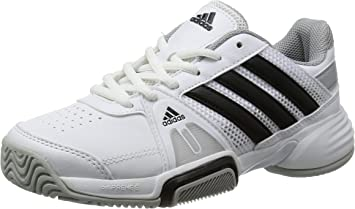 adidas Barricade Team 3 Zapatillas de tenis junior, Blanco/Gris ...