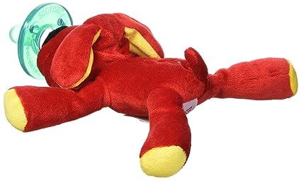 Wubbanub bebé chupete - perro rojo: Amazon.es: Bebé