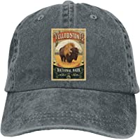 Yellowstone National Park Unisex Denim Baseball Cap Adjustable