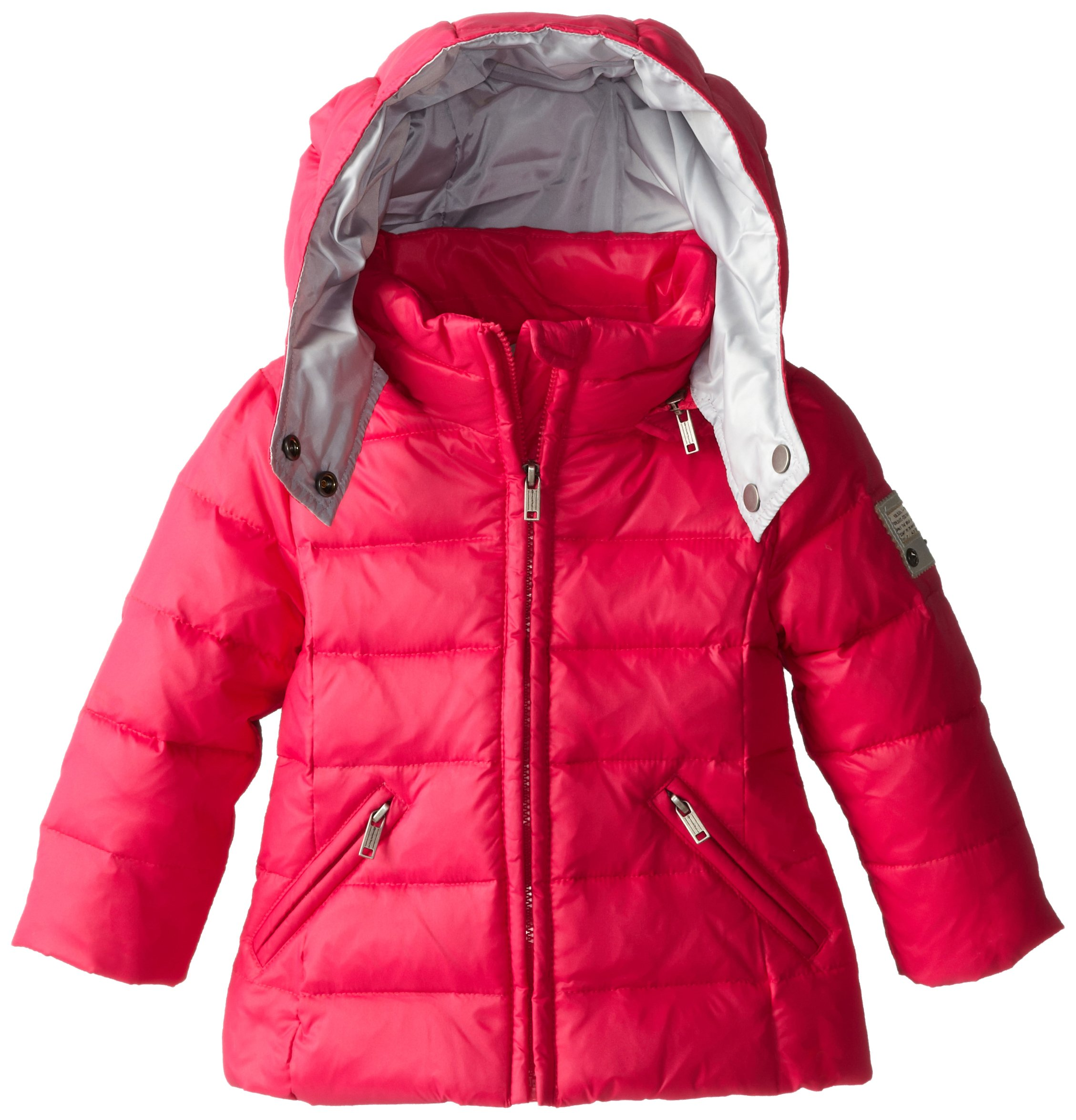 Diesel Baby Girls' Jimib Down Hooded Jacket, Fuchsia, 12 Month by Diesel