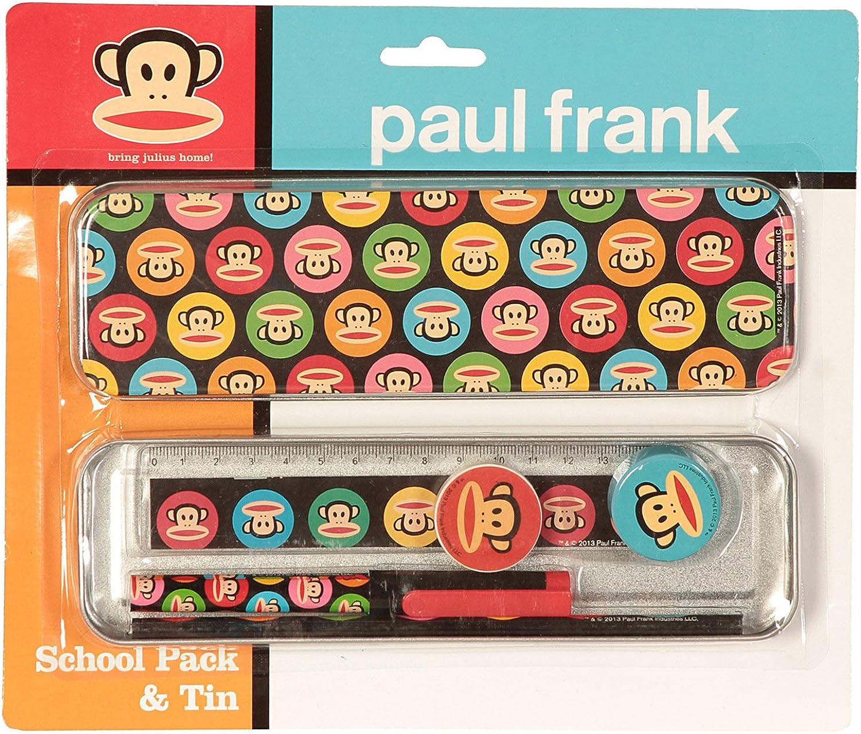 Paul Frank Estuche para lápices metálico decorado Gumball (negro): Amazon.es: Ropa y accesorios
