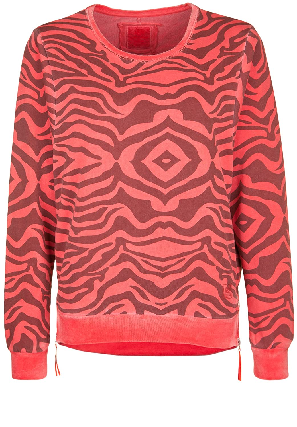 BETTER RICH Damen Sweatshirt BOXY CREW SWEAT ZEBRA