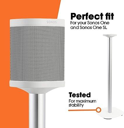 Vogel S Sound 4301 Lautsprecher Ständer Für Sonos One Sl Integriertes Verlängerungskabel Höhe 82 Cm Max 5 Kg Weiß 1 Standfuß Audio Hifi