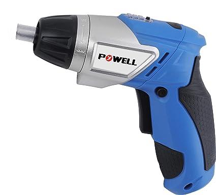 Powell France – Destornillador inalámbrico plegable con batería, 3.6 V Li-Ion: 1.300 mAh., velocidad: 1.800 vueltas / minuto, par: 3NM, con ...
