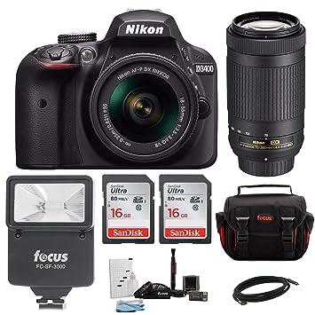 Amazon.com: Nikon D3400 DSLR Cámara con lentes Nikkor ...