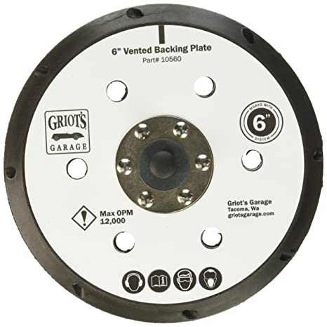 "Griots Garage 10560 6"" Vented Orbital Backing Plate"