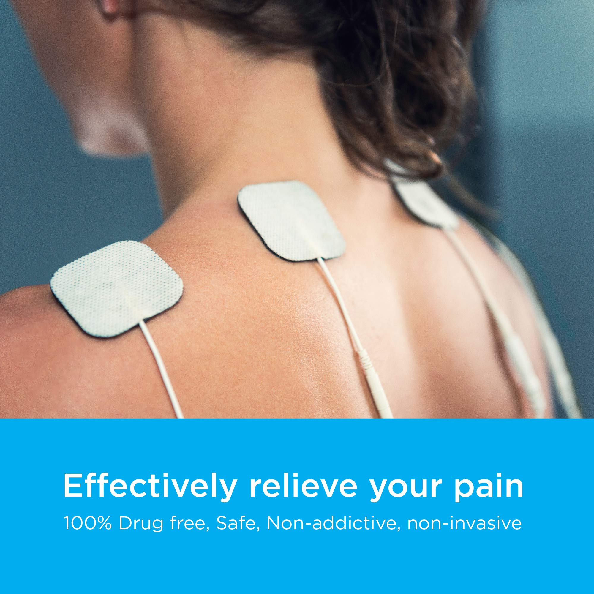 TENS Unit Pads Premium Multi Pack of Latex-Free, Non-Irritating Replacement Electrode Patches for Muscle Stimulation Massage Electrotherapy - 34pcs (2x2in Small, 2x4in XL, Pad Holders) by Cherished Life (Image #3)